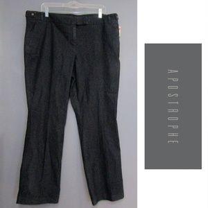 NEW Apostrophe Stretch Black Denim Pants Jeans 18